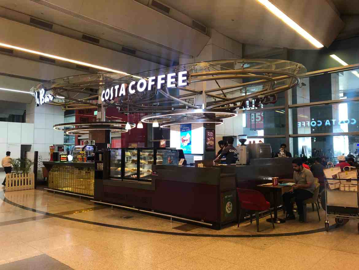 Sim card in Delhi Airport, Costa Coffee Delhi Airport