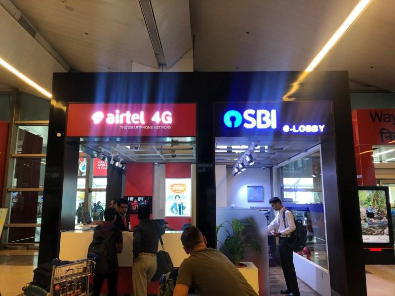 Airtel store Delhi Airport Sim card in India