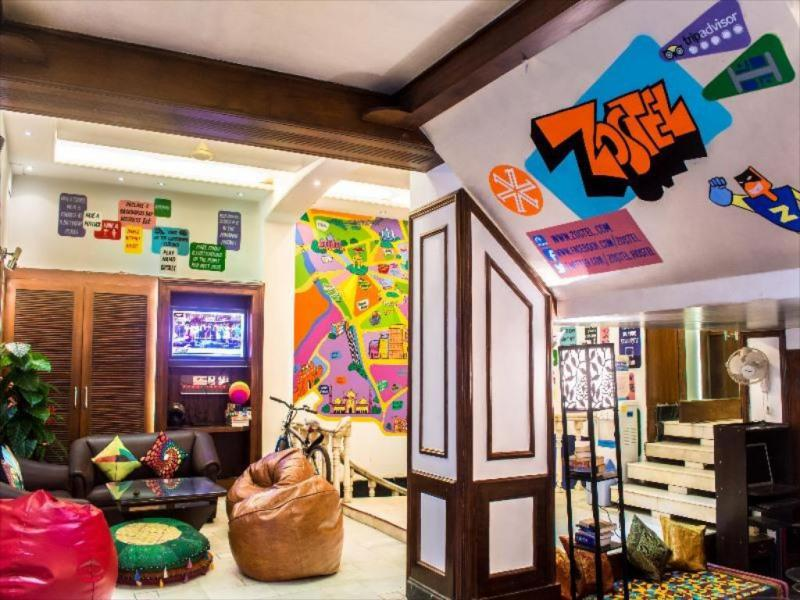 zostel hostel delhi reception area