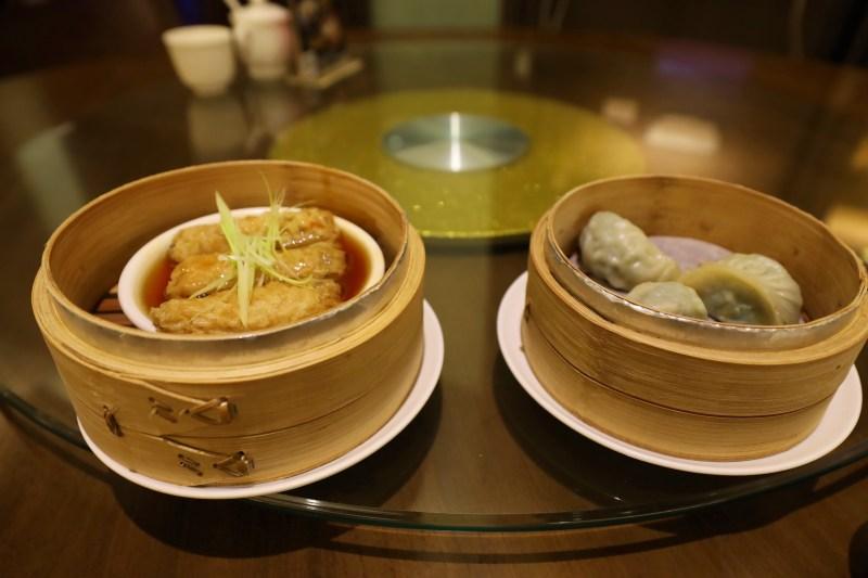 Vegetarian rolls at Fo Guang Shan Restaurant
