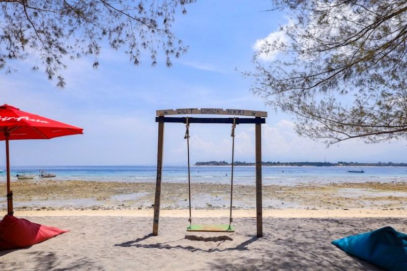 Gili Trawangan swing, Gili T swing on the beach