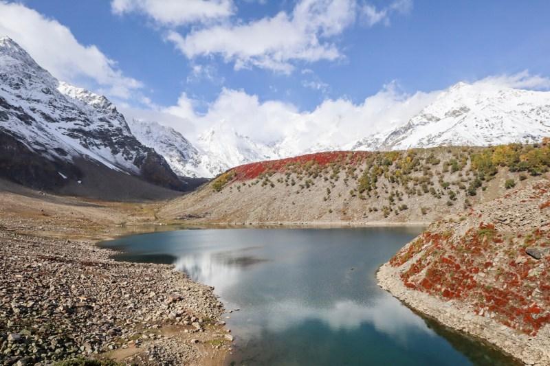 Pakistan itinerary, Rama Lake and snow capped mountains