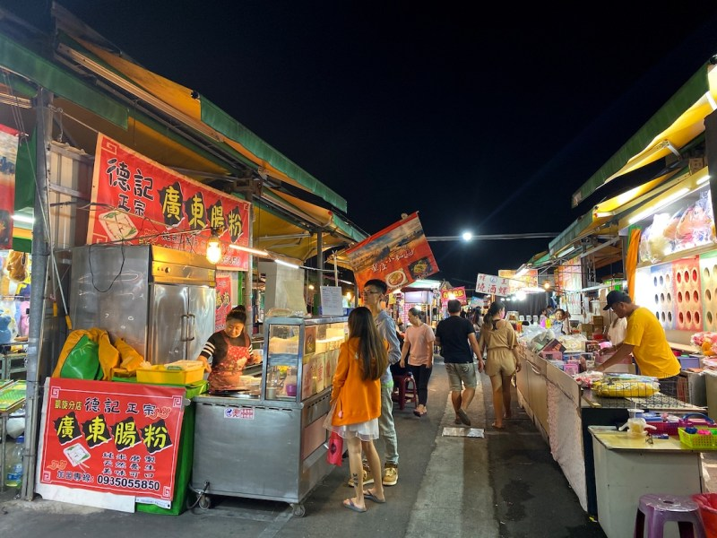 Kaisyuan Night Market stalls