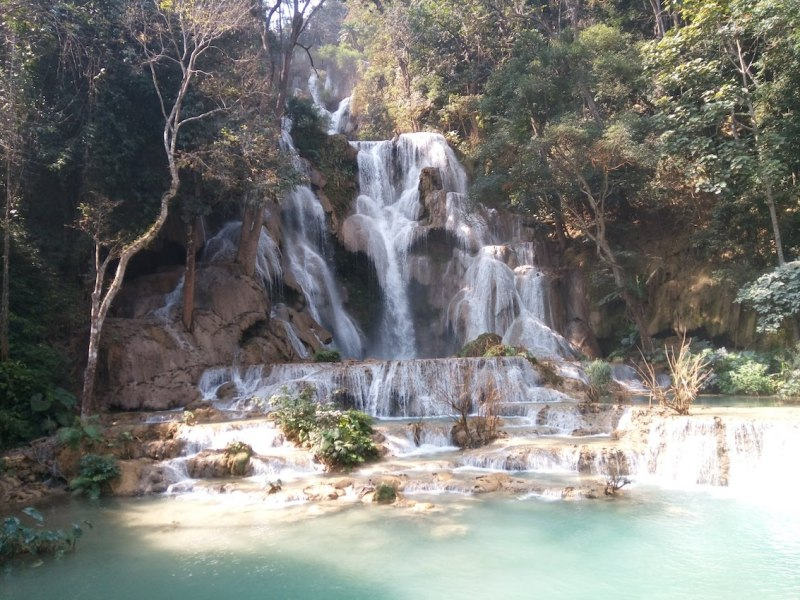 Laos Waterfall | best places to travel in Asia December and January