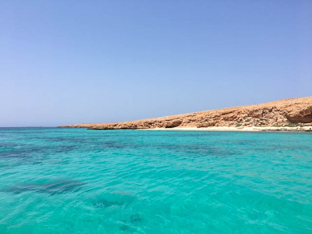 blue ocean Oman | best places to travel in Asia December and January