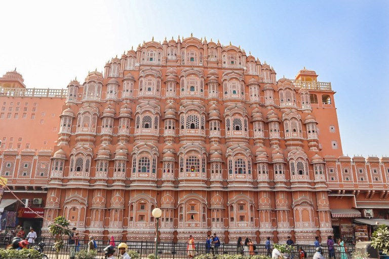 Hawal Mahal pink building in Jaipur | best places to visit in India