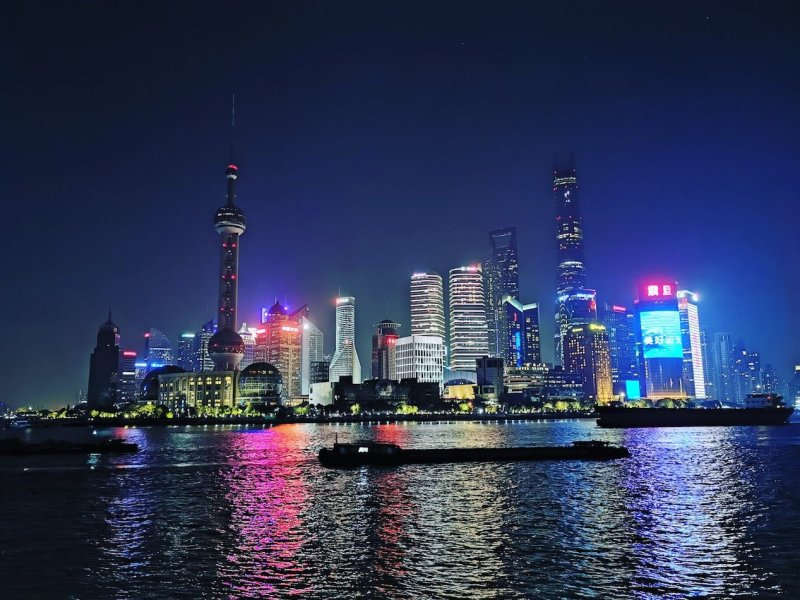 Shanghai the bund at night | best places to travel in Asia December and January