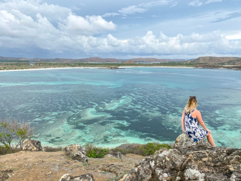ellie quinn on Merese Hill Viewpoint | lombok itinerary