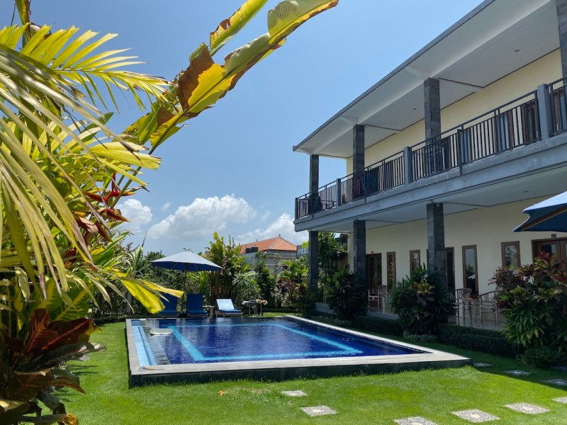 Bali Lombok itinerary, Airbnb Homestay in Canggu with swimming pool