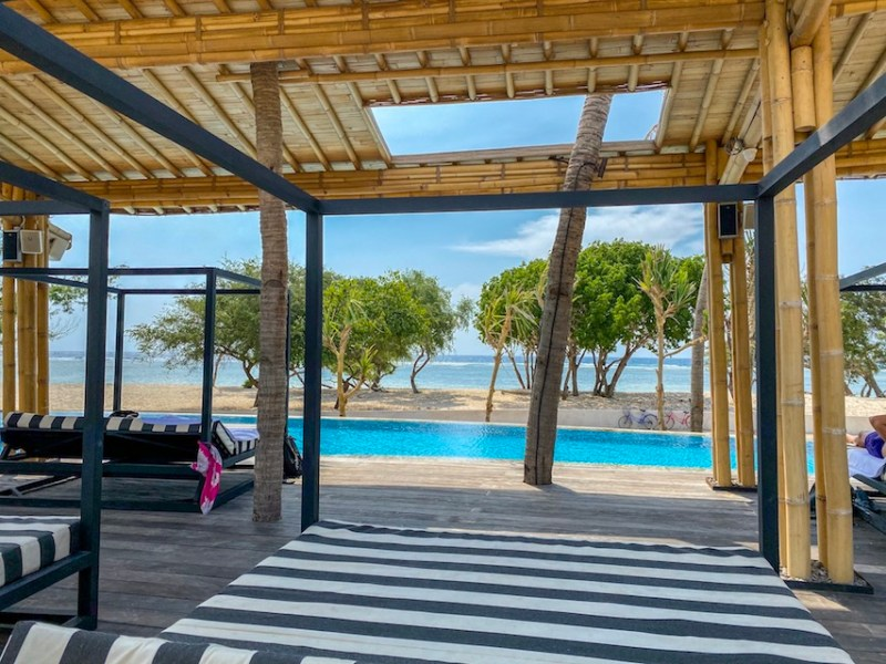 swimming pool at Gili T Hotel | Gili Islands Travel Guide
