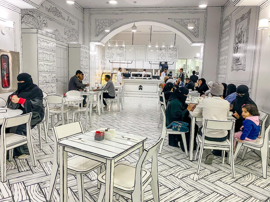 things to do in Riyadh, Greem Cafe in The Zone Riyadh