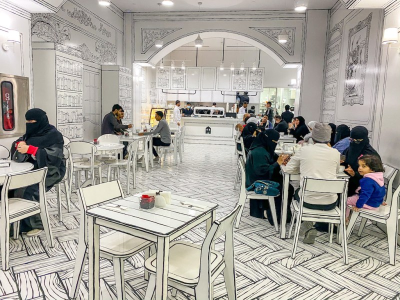 things to do in Riyadh, Greem Cafe in The Zone Riyadh