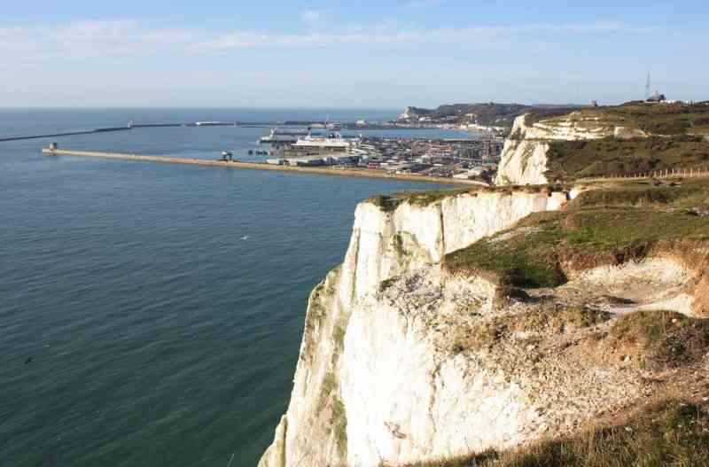 White cliffs of Dover Blue Sky | Dover day trip from London by train