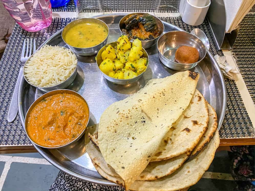 Indian Cooking Classes Thali