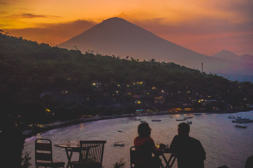 Sunset Point Amed | Best Bali Sunset