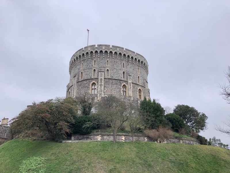 Windsor Castle grey sky | Windsor day trip from London by train