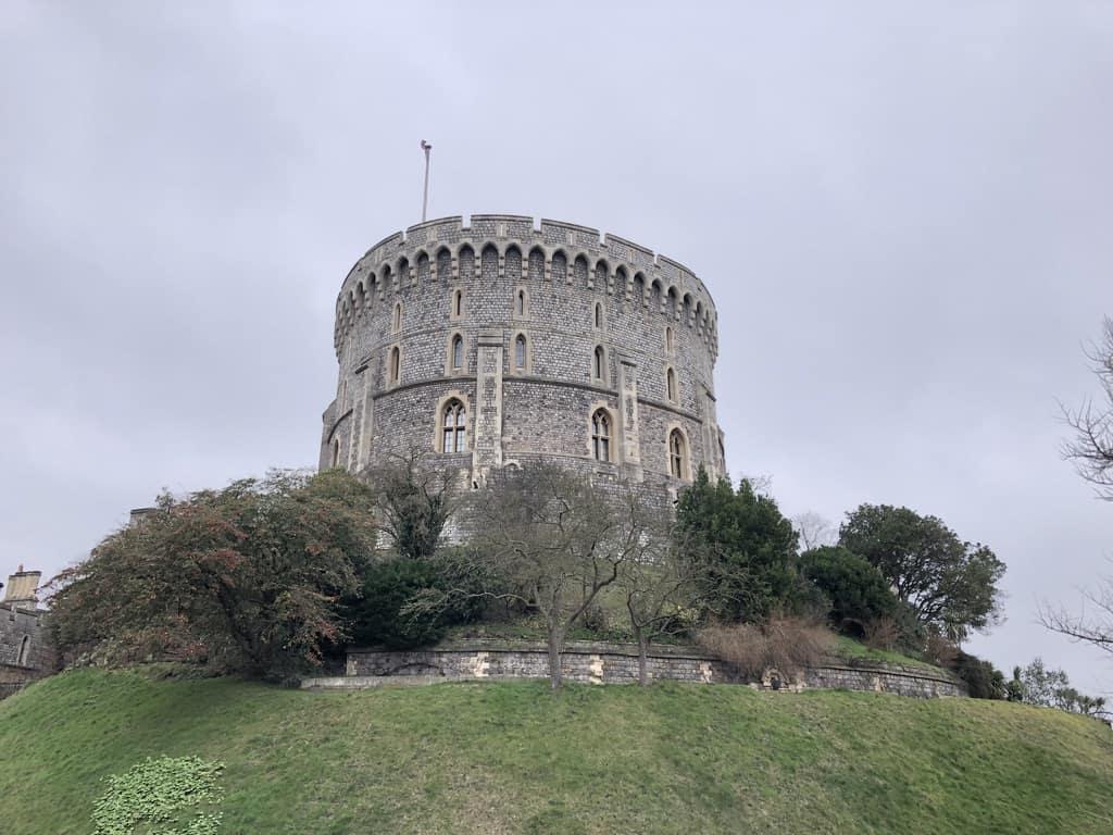 Windsor Castle grey sky | Windsor day trip from London by train