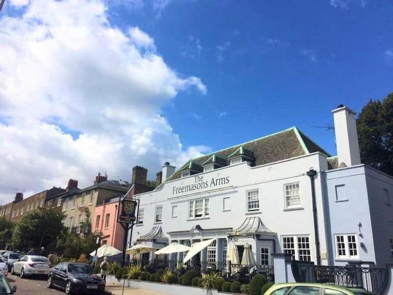 Pubs in Hampstead, Freemasons Arms Hampstead Pub