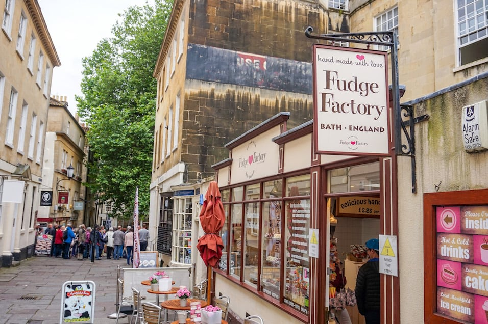 Day Trip to Bath from London, Fudge Factory