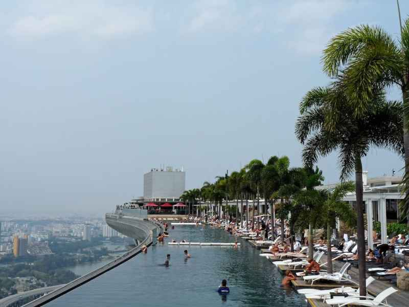 One Day in Singapore, Marina Sands Hotel Pool