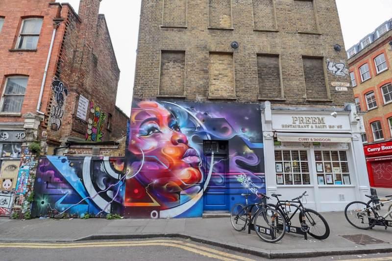4 day london itinerary, shoreditch street art