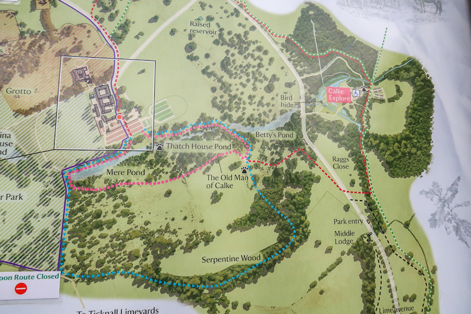 Calke Abbey Walks, Map