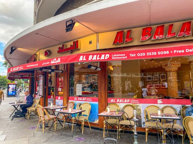 arab areas in London, Lebanese Restaurant Edgeware Road, Al Balad