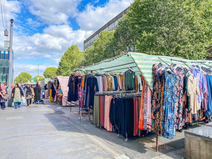 arab areas in London, whitechapel market
