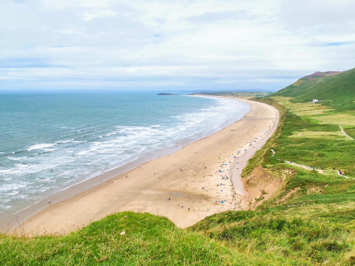 day trips from cardiff, Rhossili Bay Swansea Gower