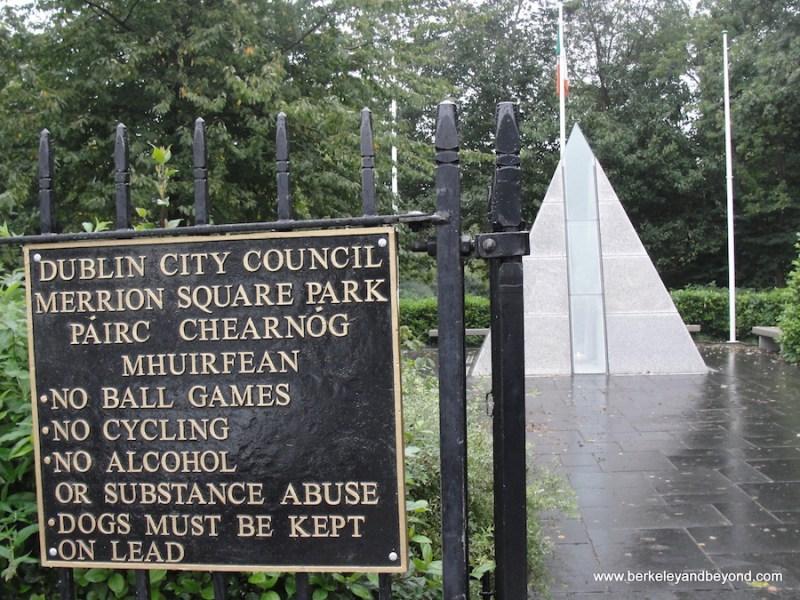 hidden gems in Dublin, Merrion Square Park-The Pyramid in Merrion Square
