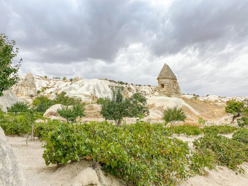 best time to visit Cappadocia, cloudy day in Cappadocia