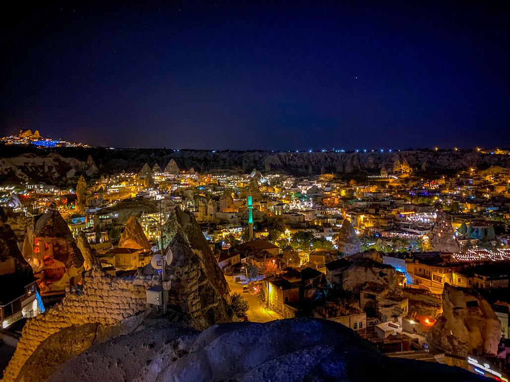 Cappadocia Itinerary, Goreme at night