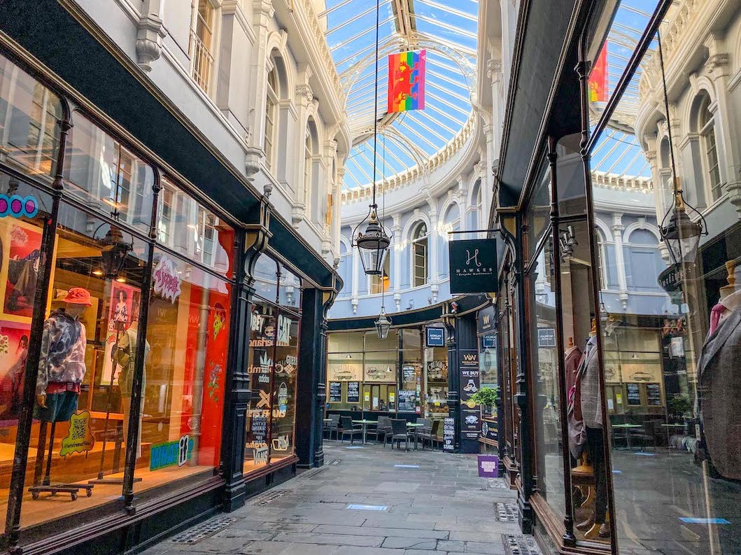 Staycation in Wales, Cardiff Shopping arcades