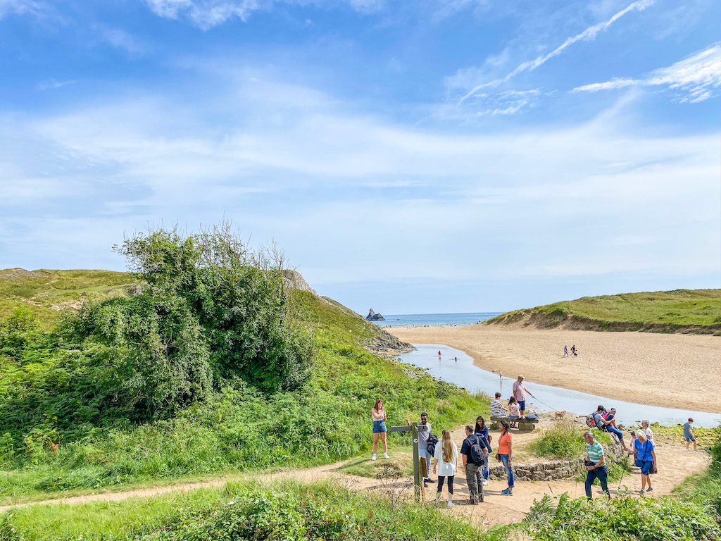 best time to visit wales, pembrokeshire beach in summer