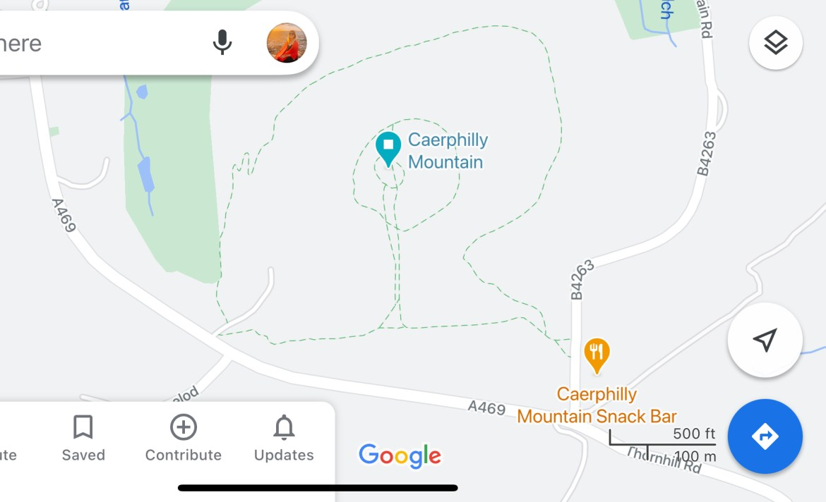 Caerphilly Mountain Map