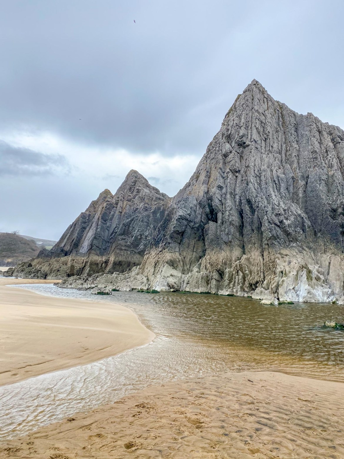 Three Cliffs on Three Cliffs Bay Gower