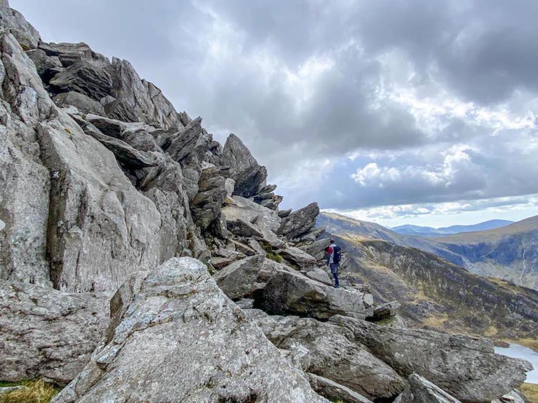 Tryfan climbing route