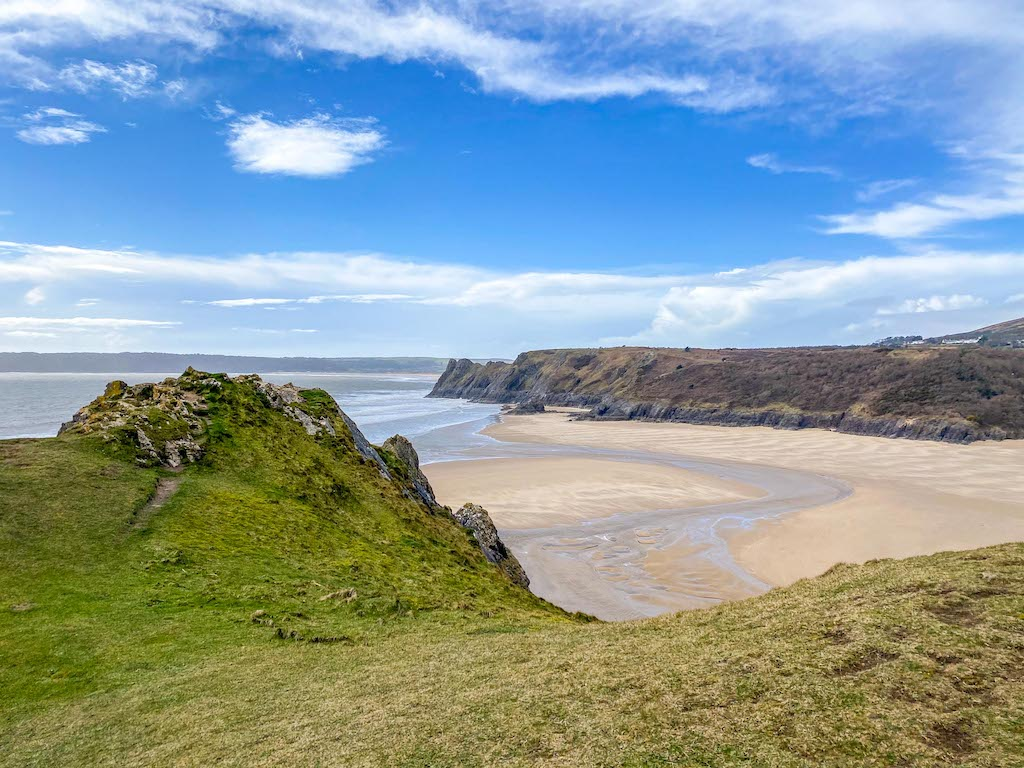 South Wales itinerary, Three Cliff Bay Beach