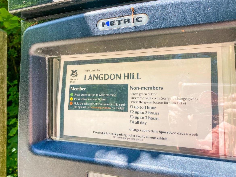 Golden Cap Walk, Langdon Hill parking