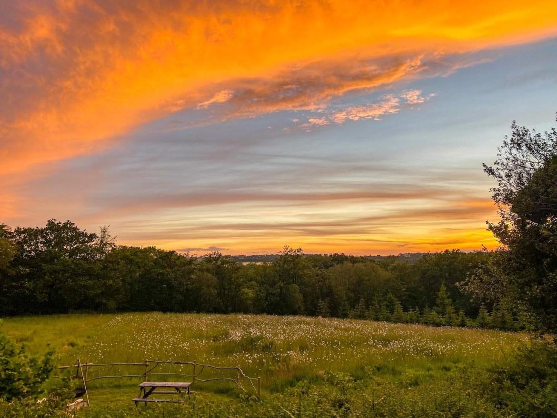 Royal Oak Farm Devon Cabins Sunset