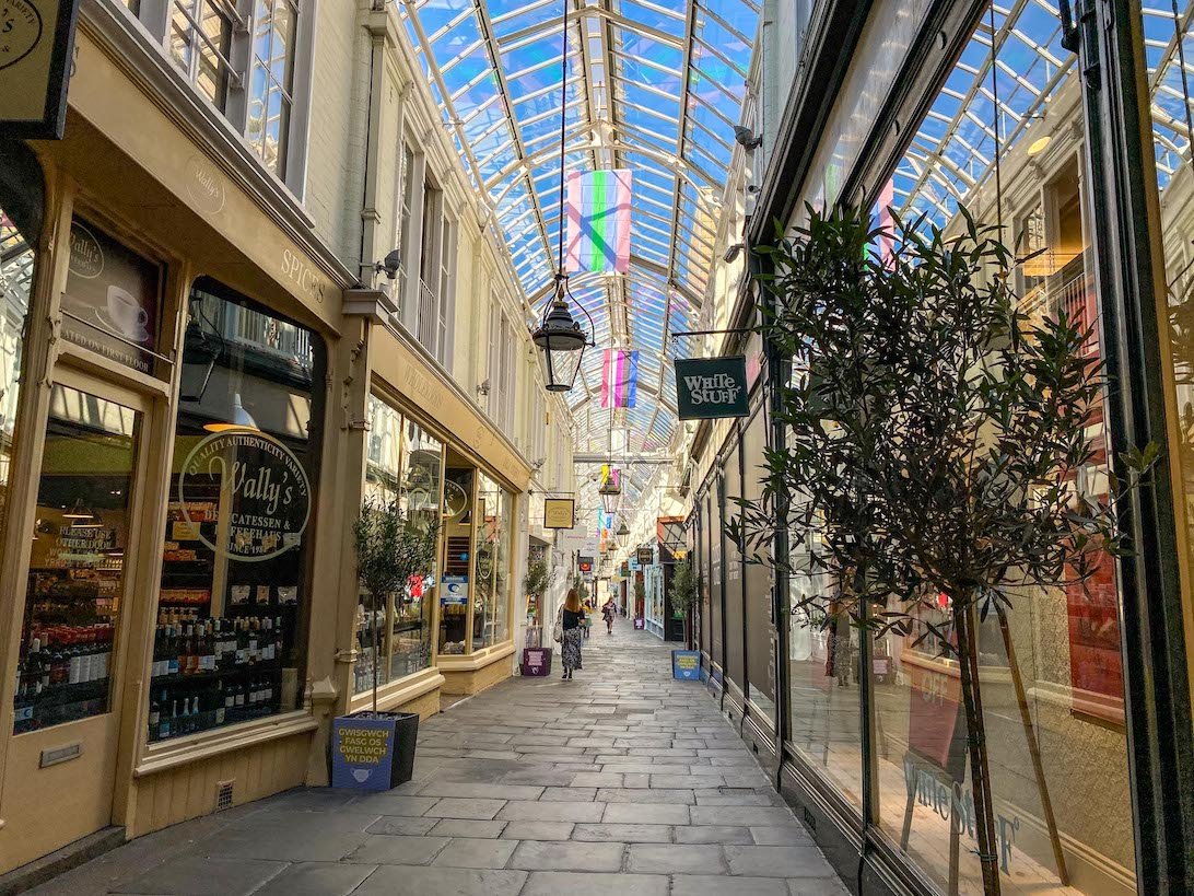 Cardiff day trip from London, Cardiff Shopping Arcade