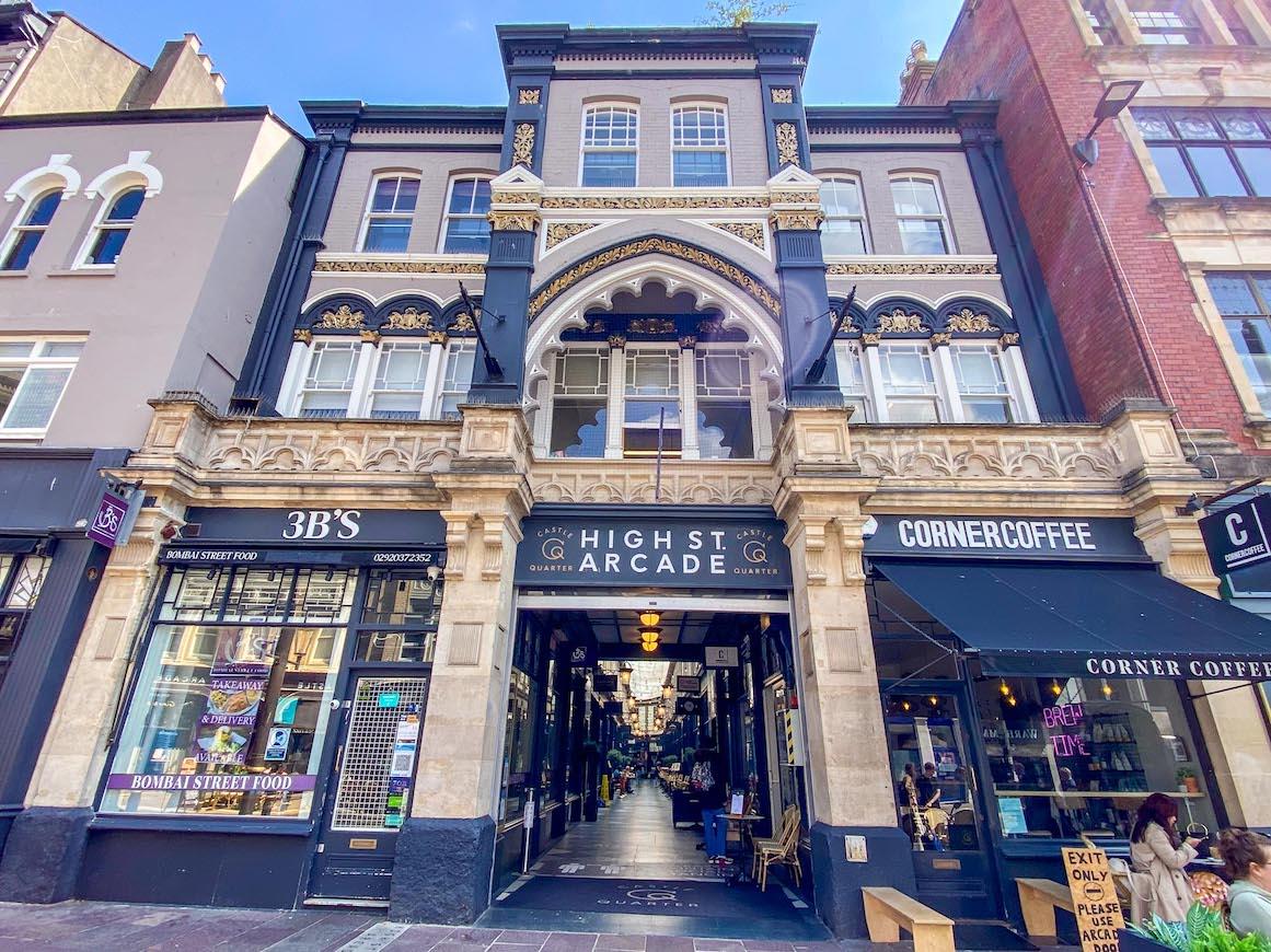 One Day in Cardiff, High Street Arcade