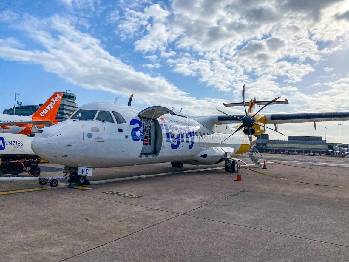 Guernsey itinerary, flight to Guernsey