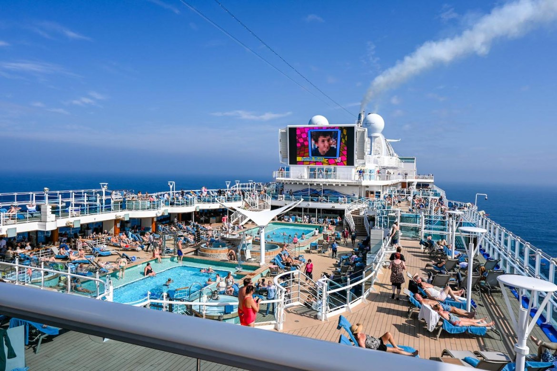 Princess Cruises from Southampton, main pool area