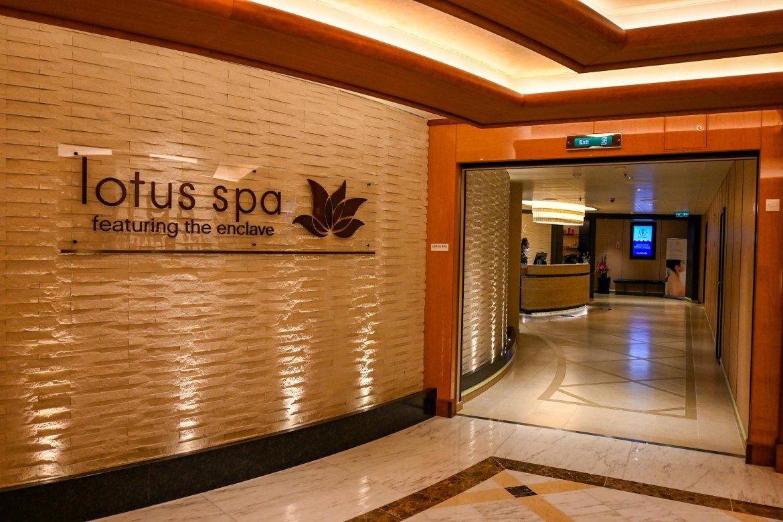 Princess Cruises from Southampton, Sky Princess Lotus Spa Entrance