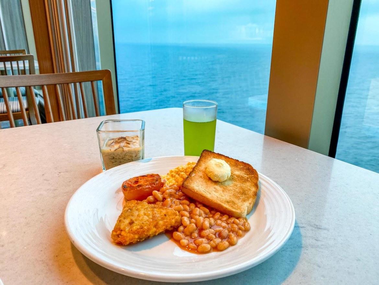 Princess Cruises from Southampton, Sky Princess buffet breakfast