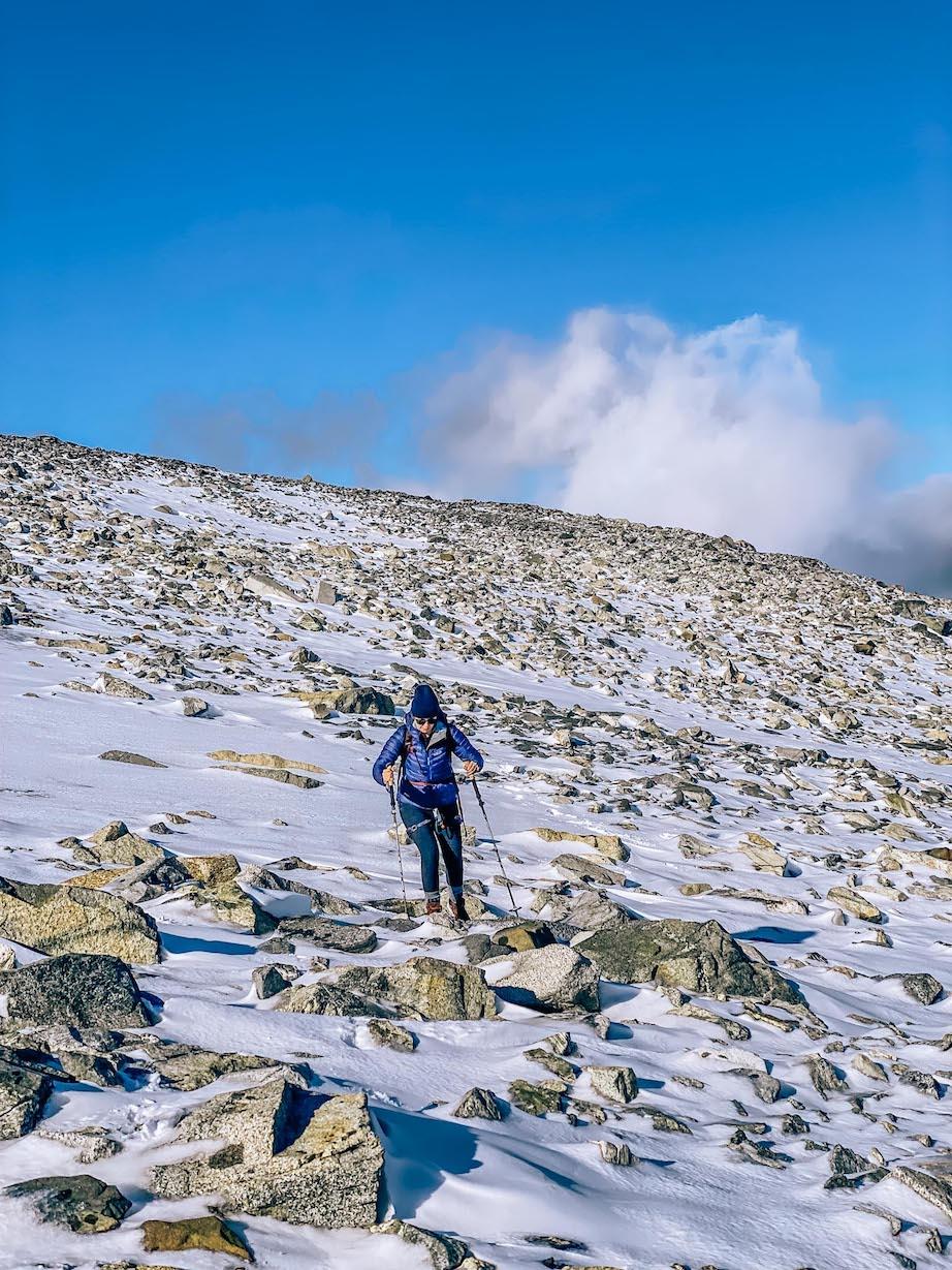 Bergen to Alesund, Ellie Quinn hiking in Jotunheimen National Park