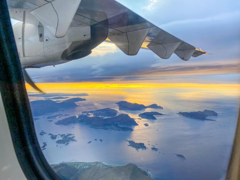 Norway road trip, Alesund to Bergen flight views