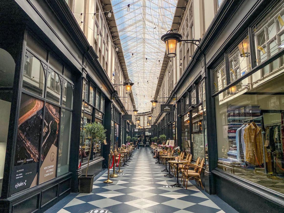 things to do in Cardiff, Shopping Arcade inside