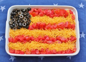 Patriotic Seven-Layer Dip Flag